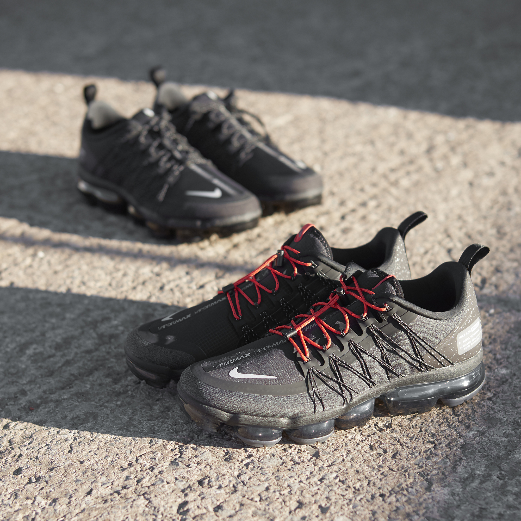 1427e850a9f63 Nike Air VaporMax Utility Run 'Black/Black' and 'Olive/Black' - size ...