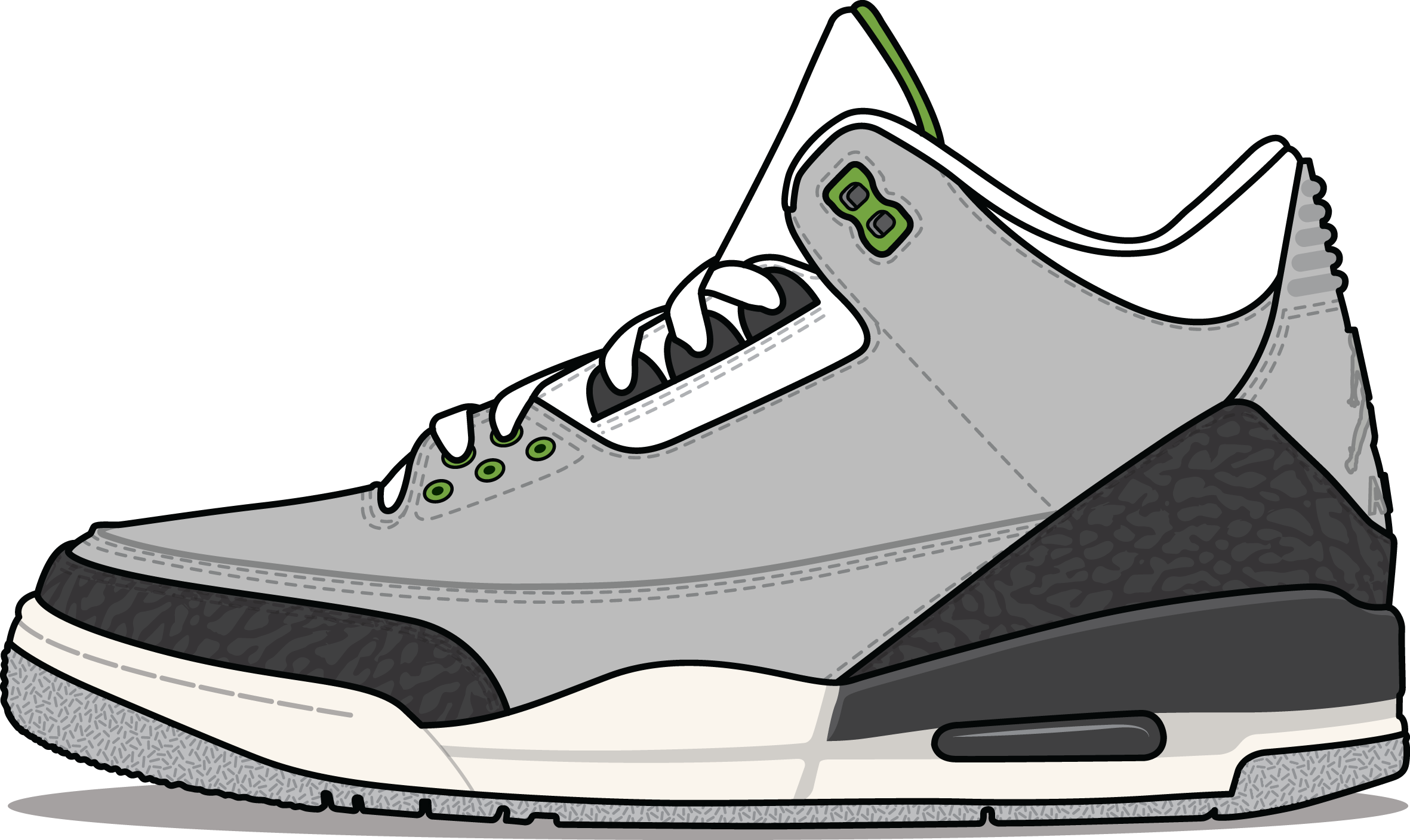 Nike Air Jordan III 'Chlorophyll' Grey and Green