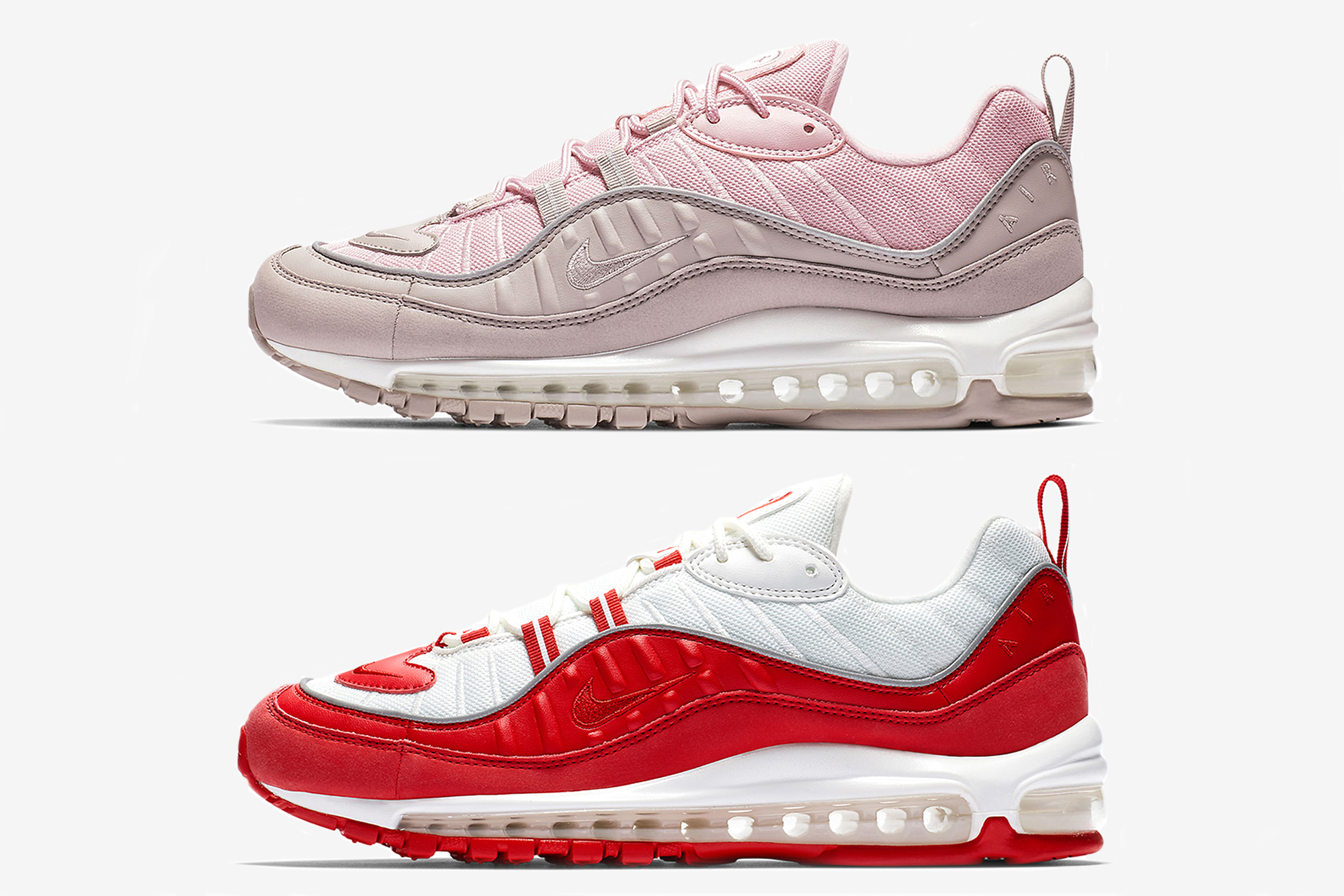 Nike Air Max 98 'University Red' & 'Pink Pumice'
