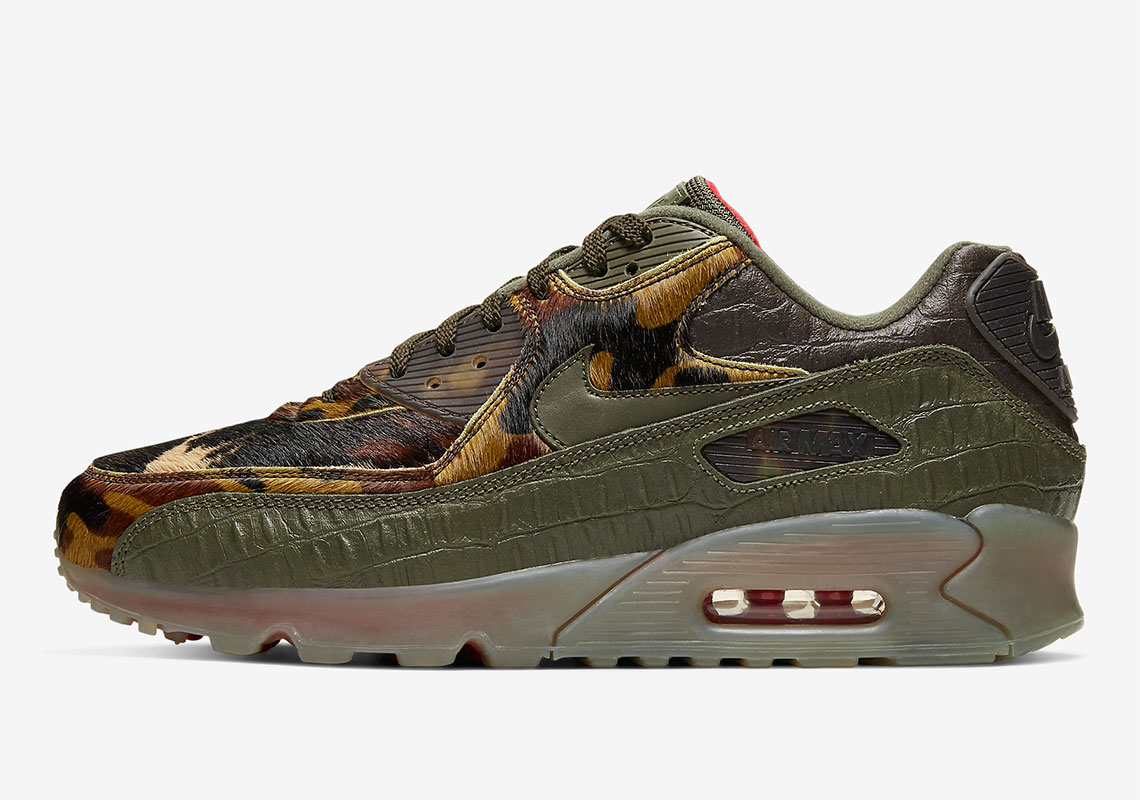 Air Max 90 Camo Croc Lateral sidewall